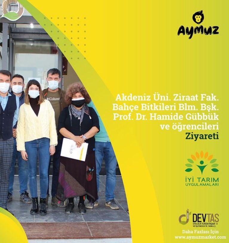 Akdeniz Üniversitesi Ziraat Fakültesi Bahçe Bitkileri Bölümü, Bölüm Başkanı Prof. Dr. Hamide GÜBBÜK ve Değerli Öğrencilerini Tesisimizde Ağırladık.